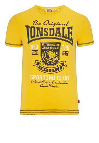 Lonsdale Herren Stretch T-Shirt ORPINGTON
